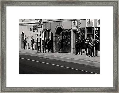 Bus Stop Framed Print by Zeljko Dozet