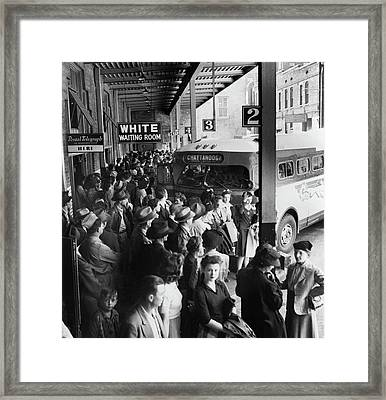 Bus Terminal, 1943 Framed Print by Granger