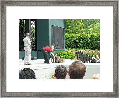 Busch Gardens - Animal Show - 121214 Framed Print