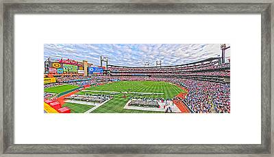 Busch Hosts Chelsea Versus Manchester City Framed Print