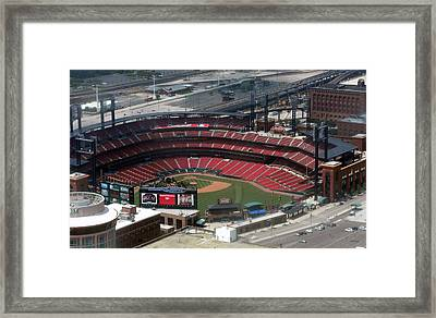 Busch Memorial Stadium Framed Print by Thomas Woolworth