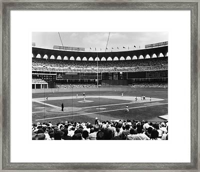 Busch Stadium - St Louis 1966 Framed Print