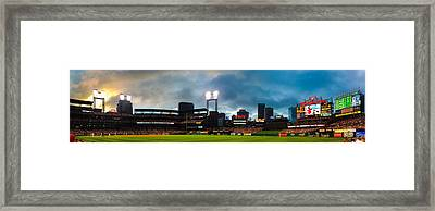 Night Game At Busch Stadium - St. Louis Cardinals Vs. Boston Red Sox Framed Print by Gregory Ballos