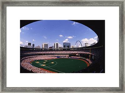 Busch Stadium St. Louis Mo Framed Print by Retro Images Archive