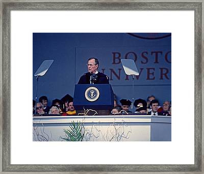 Bush 41 01 Framed Print by Jeff Stallard