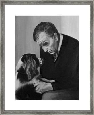 Bush And Millie Framed Print by Martha Suhocke