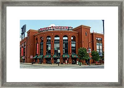 Busch Stadium Home Of The St Louis Cardinals Framed Print by Greg Kluempers