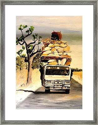 Bush Taxi Framed Print by Liz Young