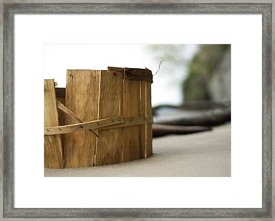 Bushel Basket Framed Print by Rebecca Sherman