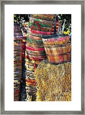 Bushel Baskets Framed Print