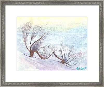 Dancing In The Snow Framed Print