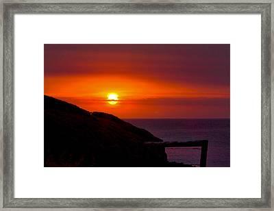 Bushfire Sky Framed Print