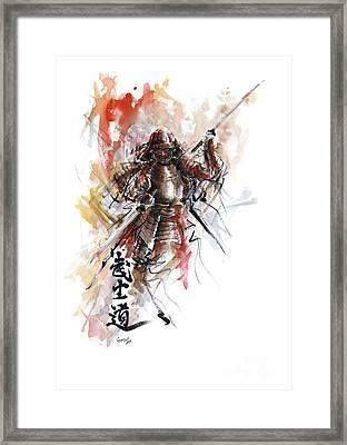 Bushido - Samurai Warrior. Framed Print by Mariusz Szmerdt