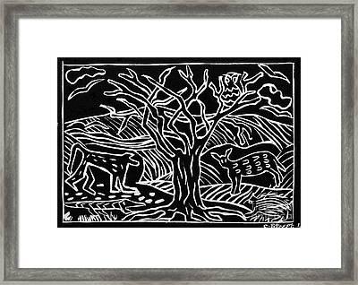 Bushveld Indaba Framed Print by Caroline Street