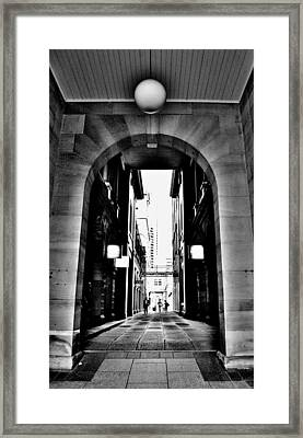 Business Alley - Melbourne - Australia Framed Print