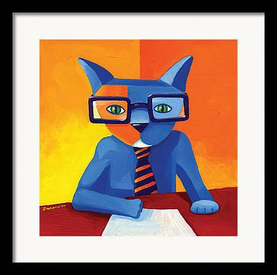 Cat Paintings Framed Prints