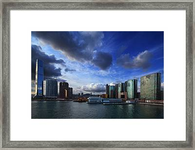 Framed Print featuring the photograph Business Harbour by Afrison Ma