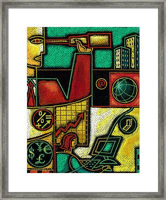 Business Framed Print by Leon Zernitsky