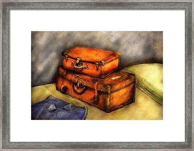 Business Man - Packed Suitcases Framed Print by Mike Savad