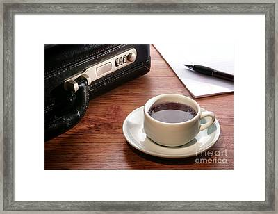 Business Meeting Framed Print by Olivier Le Queinec