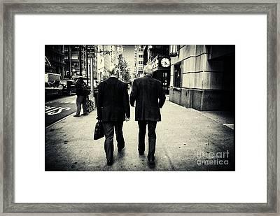 Business Men Framed Print