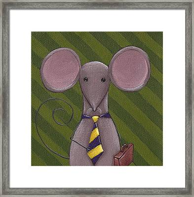Business Mouse Framed Print by Christy Beckwith