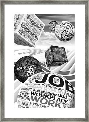 Business Related Concepts Poster Framed Print by Stefano Senise
