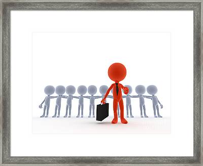 Business Team Leader Framed Print