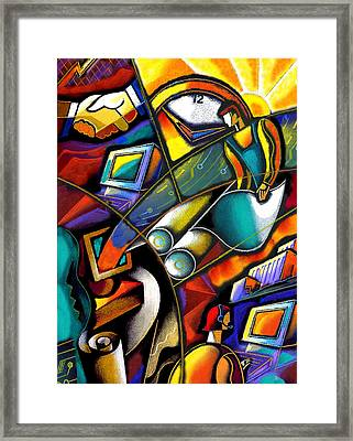 Business World Framed Print by Leon Zernitsky