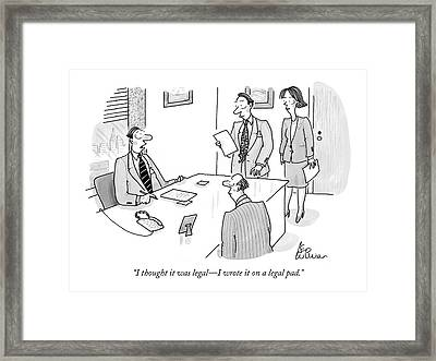 Businessman To Associates Framed Print