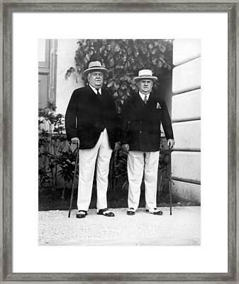 Businessmen In Havana Framed Print by Underwood Archives