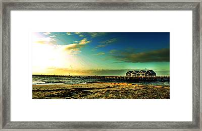 Busselton Jetty Framed Print by Yew Kwang
