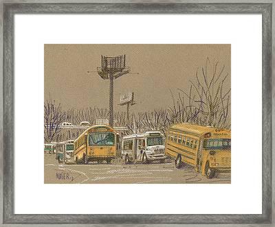 Busstorage Framed Print