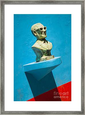 Bust And Shadow Framed Print by OUAP Photography