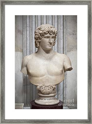 Bust Of Antinous Framed Print by Roberto Morgenthaler