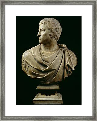 Bust Of Brutus Framed Print by Michelangelo Buonarroti