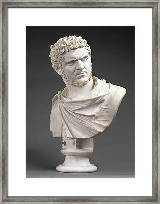 Bust Of Emperor Caracalla Born 188 Framed Print by Litz Collection