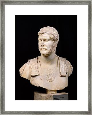 Bust Of Emperor Hadrian Framed Print by Anonymous
