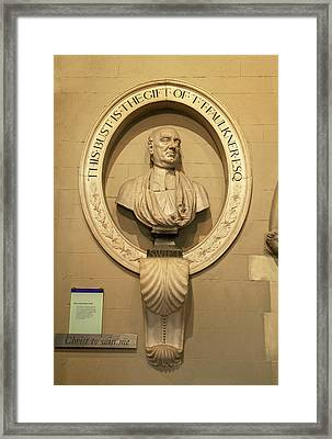 Bust Of Jonathathan Swift, Dean Framed Print by Panoramic Images