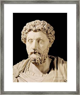 Bust Of Marcus Aurelius Framed Print by Anonymous
