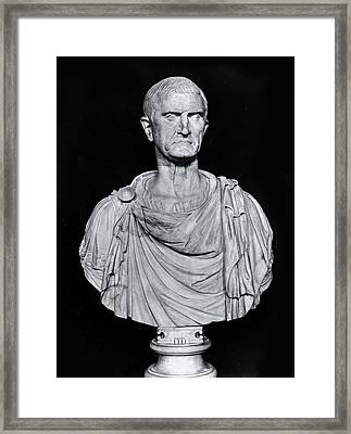 Bust Of Marcus Licinius Crassus Framed Print by Roman