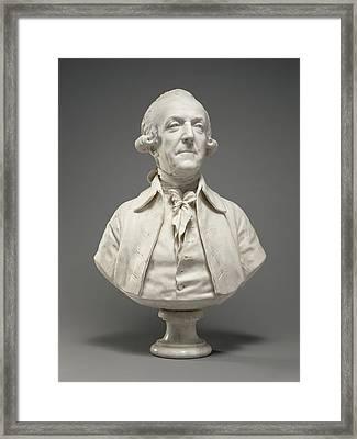 Bust Of Marie-sébastien-charles-françois Fontaine De Framed Print by Litz Collection