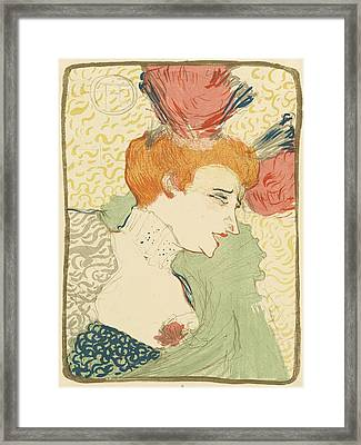 Bust Of Mlle. Marcelle Lender Framed Print by Toulouse-Lautrec