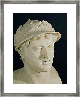 Bust Of Pyrrhus Framed Print by Roman