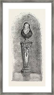 Bust Of Rouen Faience Liamilton Collection Framed Print by English School