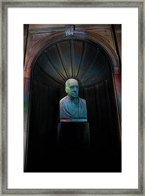 Bust With Coloured Lights Paxton House Framed Print