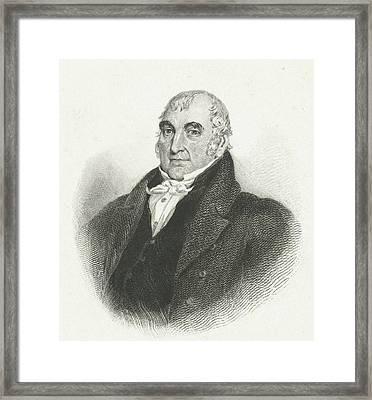 Buste Van M. Reynolds Framed Print by Johannes De Mare