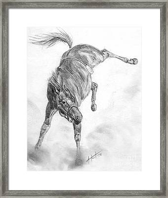 Busted Bronc Framed Print