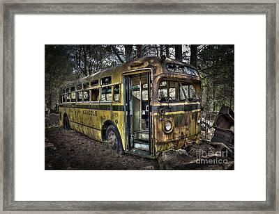 Bus'ted Framed Print