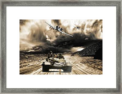 Busted Framed Print by Peter Chilelli